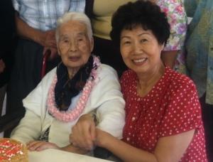 grand ma with whithair grandma